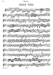Piano Trio No.42 in E Flat Major, Hob.XV/30: Violin part by Joseph Haydn