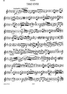 Piano Trio No.41 in E Flat Minor, Hob.XV/31: Violin part by Joseph Haydn