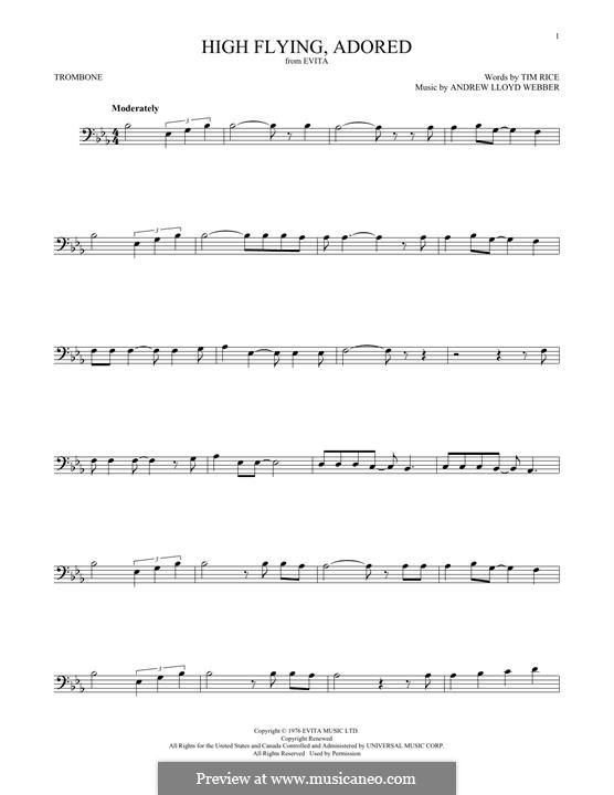 High Flying, Adored: For trombone by Andrew Lloyd Webber