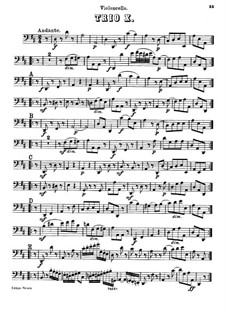 Piano Trio No.20 in D Major, Hob.XV/7: Cello part by Joseph Haydn
