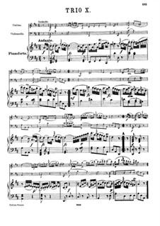 Piano Trio No.20 in D Major, Hob.XV/7: Full score by Joseph Haydn