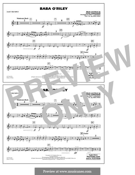 Baba O'Reilly (from Summer of Sam): 3rd Bb Trumpet part by Peter Townshend