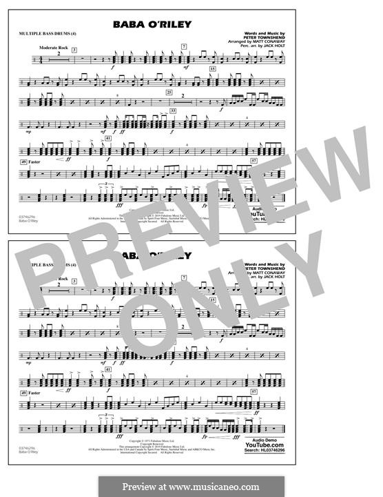Baba O'Reilly (from Summer of Sam): Multiple Bass Drums part by Peter Townshend