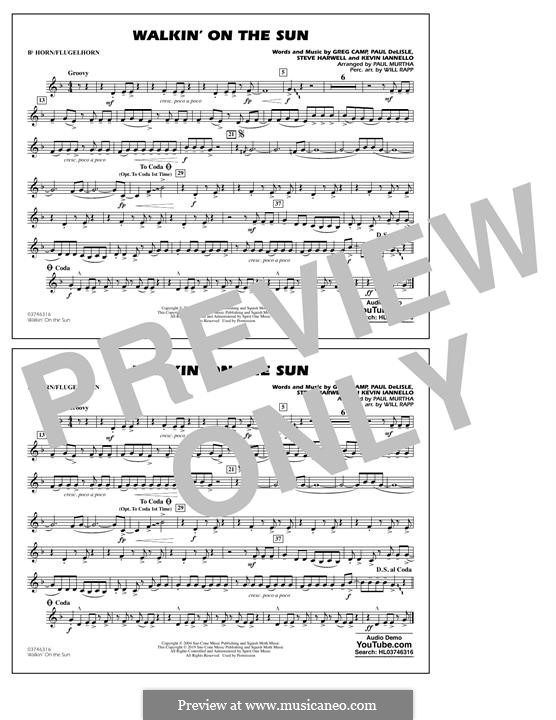 Walkin' on the Sun (Smash Mouth): Bb Horn/Flugelhorn part by Steven Harwell, Gregory Camp, Kevin Iannello, Paul DeLlale