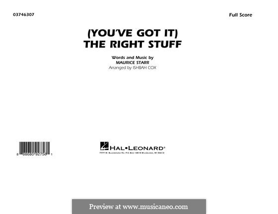 (You've Got It) The Right Stuff (New Kids on the Block): Full Score by Maurice Starr