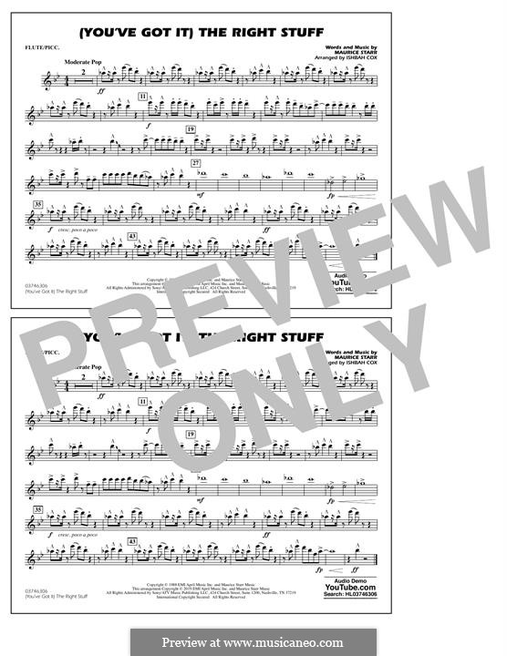 (You've Got It) The Right Stuff (New Kids on the Block): Flute/Piccolo part by Maurice Starr