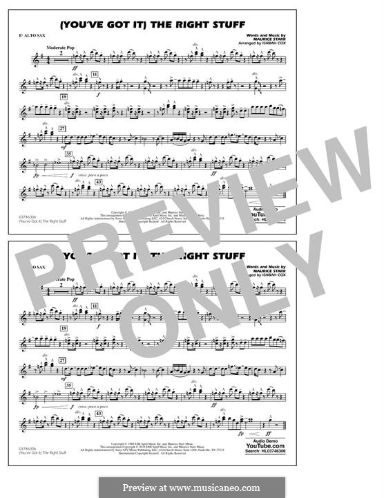 (You've Got It) The Right Stuff (New Kids on the Block): Eb Alto Sax part by Maurice Starr