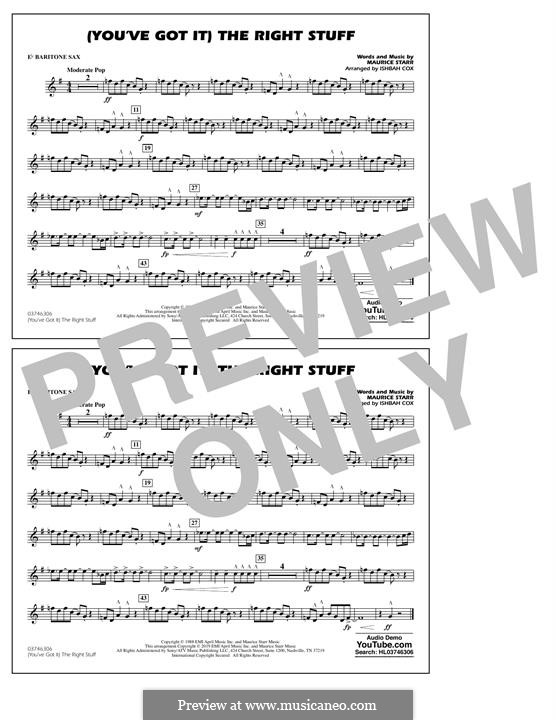 (You've Got It) The Right Stuff (New Kids on the Block): Eb Baritone Sax part by Maurice Starr