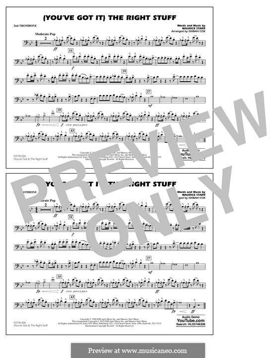 (You've Got It) The Right Stuff (New Kids on the Block): 2nd Trombone part by Maurice Starr