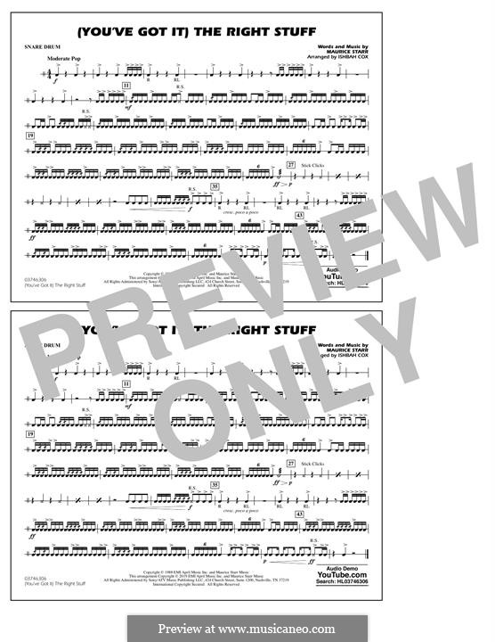 (You've Got It) The Right Stuff (New Kids on the Block): Snare Drum part by Maurice Starr