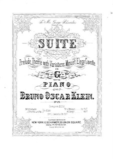 Suite for Piano, Op.25: Suite for Piano by Bruno Oscar Klein