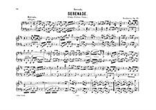 Serenade in D Major for Flute, Violin and Viola, Op.25: Version for piano four hands by Ludwig van Beethoven