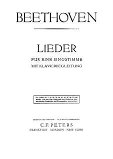 An die Hoffnung, Op.32: Piano score with vocal part by Ludwig van Beethoven