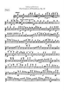 The Creatures of Prometheus, Op.43: Flutes I, II parts by Ludwig van Beethoven
