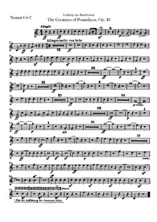 The Creatures of Prometheus, Op.43: Trumpets I, II parts by Ludwig van Beethoven