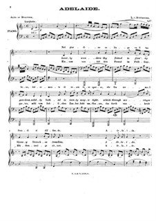 Adelaide, Op.46: For voice and piano (F Major) by Ludwig van Beethoven