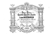 Sonata for Cello and Piano No.1 in F Major, Op.5: Arrangement for piano four hands – parts by Ludwig van Beethoven