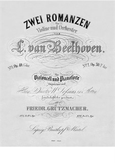 Romance for Violin and Orchestra No.2 in F Major, Op.50: Version for cello and piano by Ludwig van Beethoven