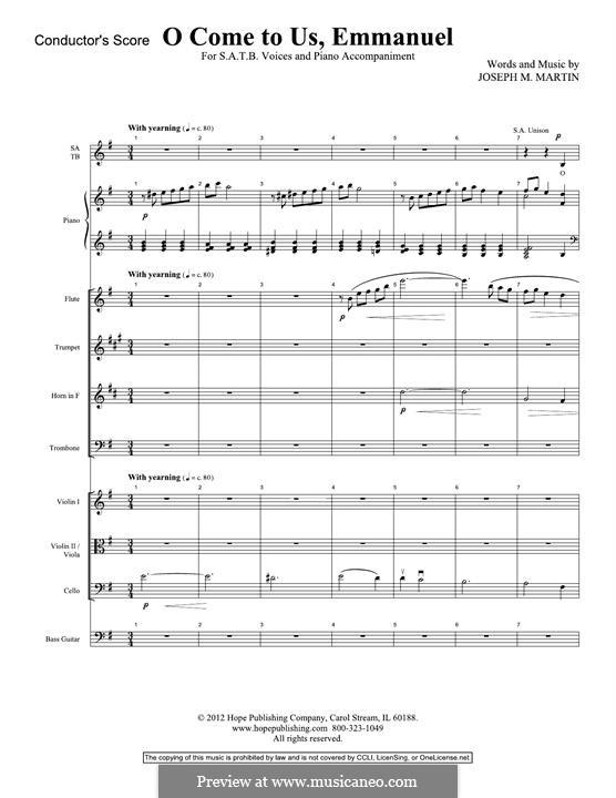 O Come To Us, Emmanuel: Score by Joseph M. Martin