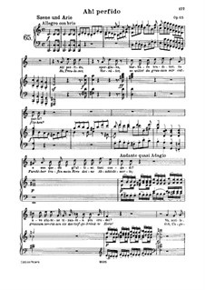 Ah! Perfido, Op.65: Piano score with vocal part by Ludwig van Beethoven