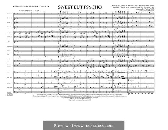 Sweet But Psycho (Ava Max): Full Score by Henry Russell Walter, William Lobban-Bean, Madison Love, Andreas Haukeland, Amanda Koci