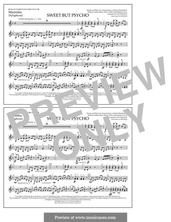 Sweet But Psycho (Ava Max): Marimba part by Henry Russell Walter, William Lobban-Bean, Madison Love, Andreas Haukeland, Amanda Koci