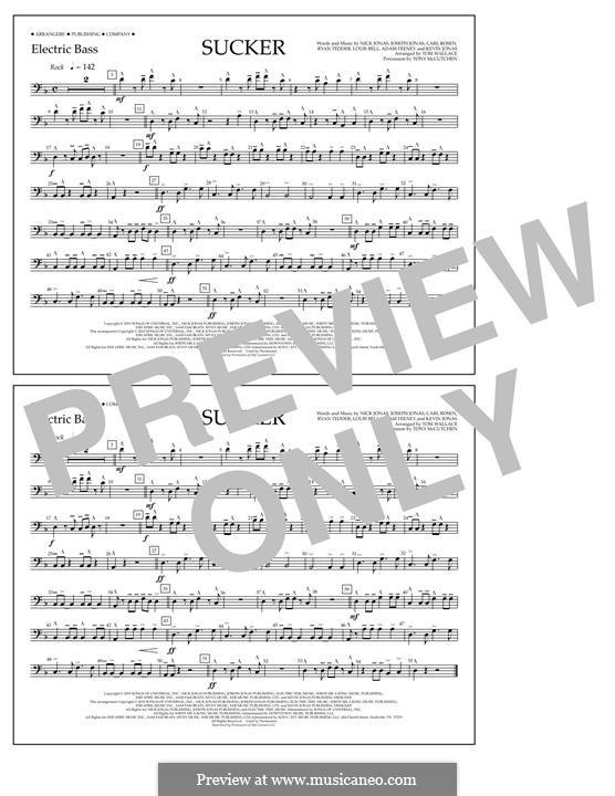 Sucker (Jonas Brothers): Electric Bass part by Joseph Jonas, Kevin Jonas Sr., Nicholas Jonas, Ryan B Tedder, Louis Bell, Frank Dukes