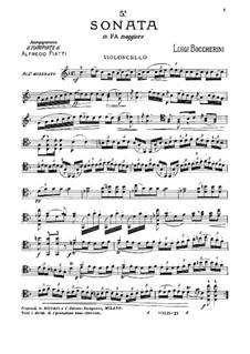 Sonata for Cello and Basso Continuo in F Major, G.1: Solo part by Luigi Boccherini