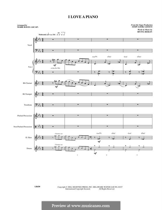 I Love a Piano: Full Score by Irving Berlin