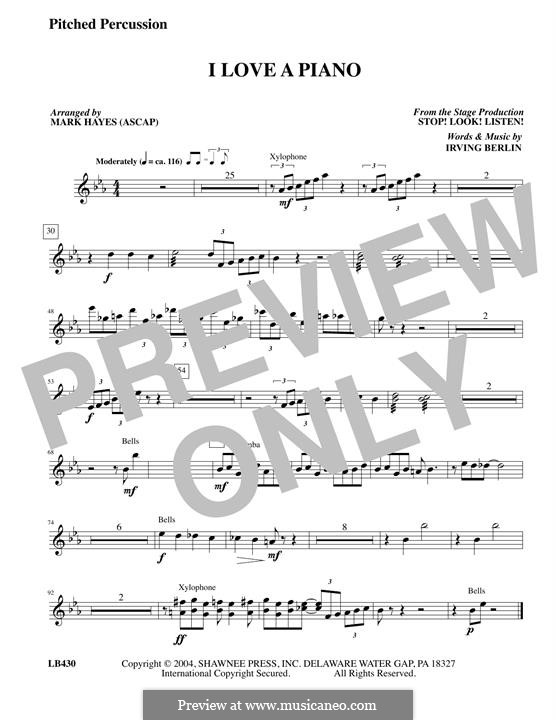 I Love a Piano: Pitched Percussion part by Irving Berlin