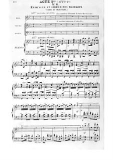 The Pearl of Brazil: Act II, for voices and piano by Félicien David