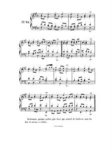 Choix de chorals: Choral No.74 by Johann Sebastian Bach