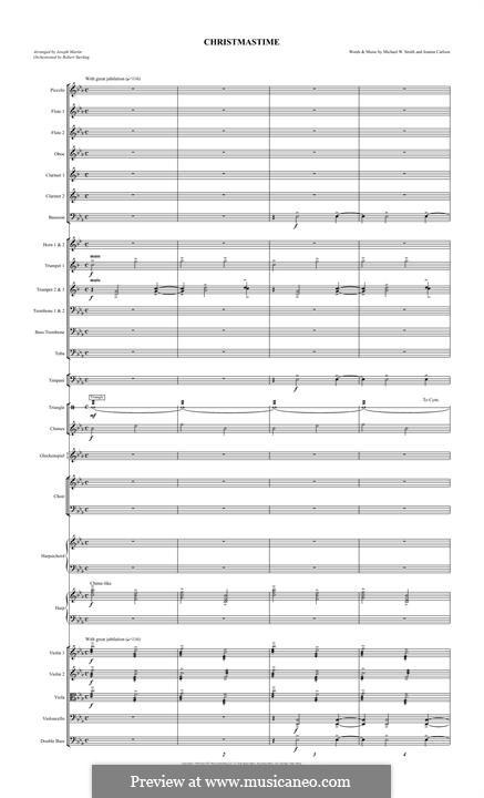 Christmastime: Full Score by Joanna Carlson, Michael W. Smith