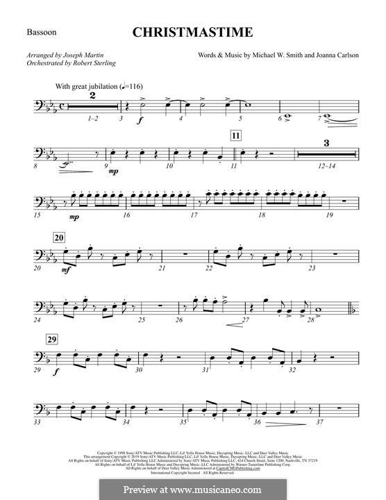 Christmastime: Bassoon part by Joanna Carlson, Michael W. Smith
