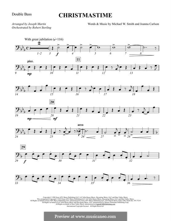 Christmastime: Double Bass part by Joanna Carlson, Michael W. Smith