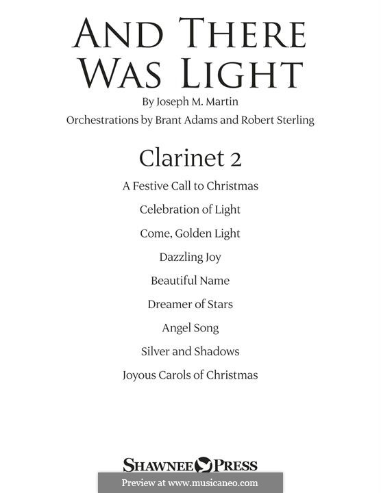 And There Was Light: Bb Clarinet 2 part by Joseph M. Martin
