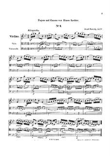 Gradus ad parnassum, Op.52: Book IV, for string trio by Jakob Dont