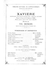 Xavière: Xavière by Théodore Dubois