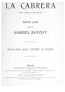 La cabrera: For soloists, choir and piano by Gabriel Dupont