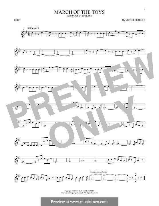 March of the Toys: For horn by Victor Herbert