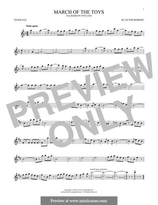 March of the Toys: For tenor saxophone by Victor Herbert