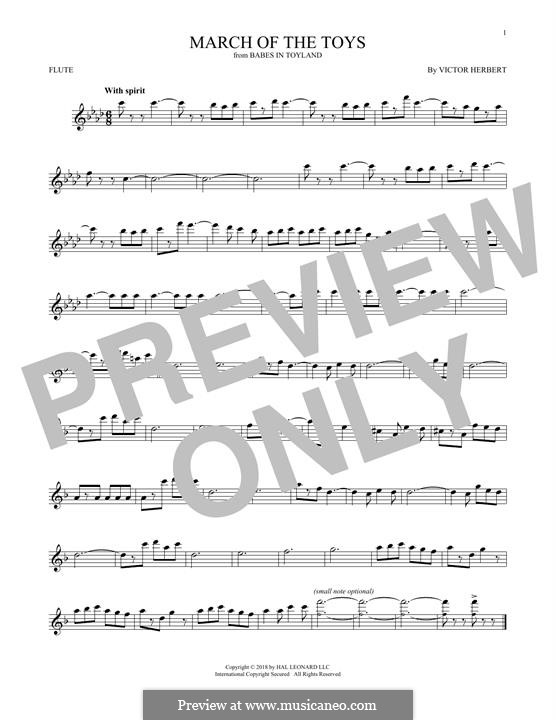 March of the Toys: For flute by Victor Herbert