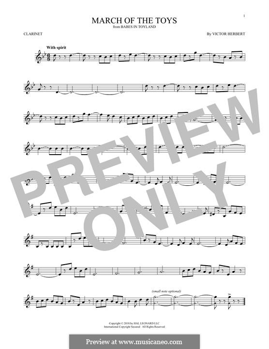 March of the Toys: For clarinet by Victor Herbert