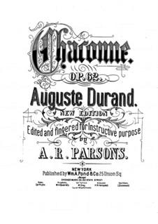 Chaconne in A Minor, Op.62: For piano by Auguste Durand