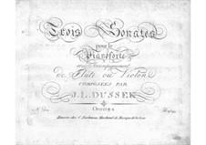 Three Sonatas for Piano and Flute (or Violin), Op.51 Craw 23-25: Parts by Jan Ladislav Dussek