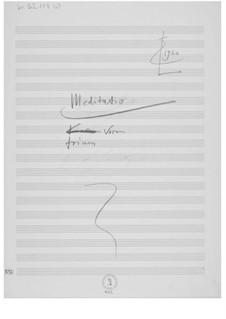 Meditatio trium vocum: Composer's Sketches by Ernst Levy