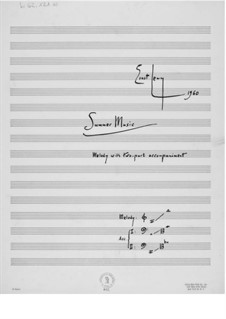 Summer Music: Full score by Ernst Levy