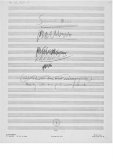 Summer Music: Composer's Sketches by Ernst Levy