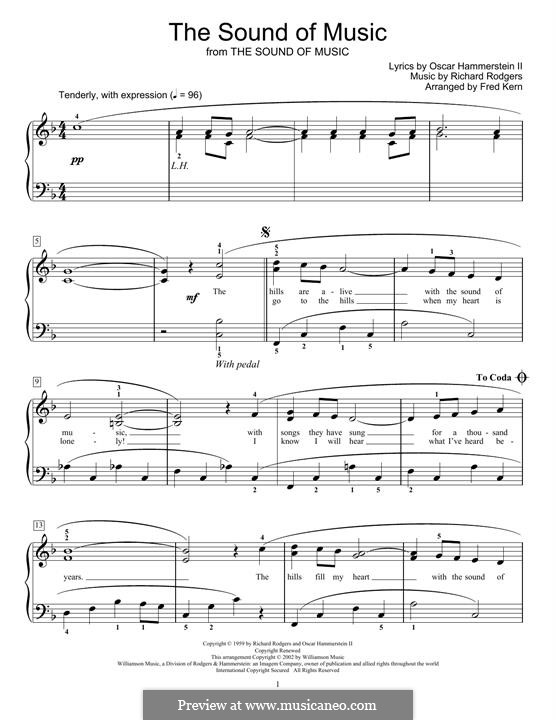 The Sound of Music: For easy piano by Richard Rodgers