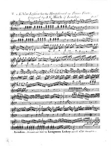 Sonata 'A New Lesson' in G Major, W A10b: Sonata 'A New Lesson' in G Major by Johann Christian Bach